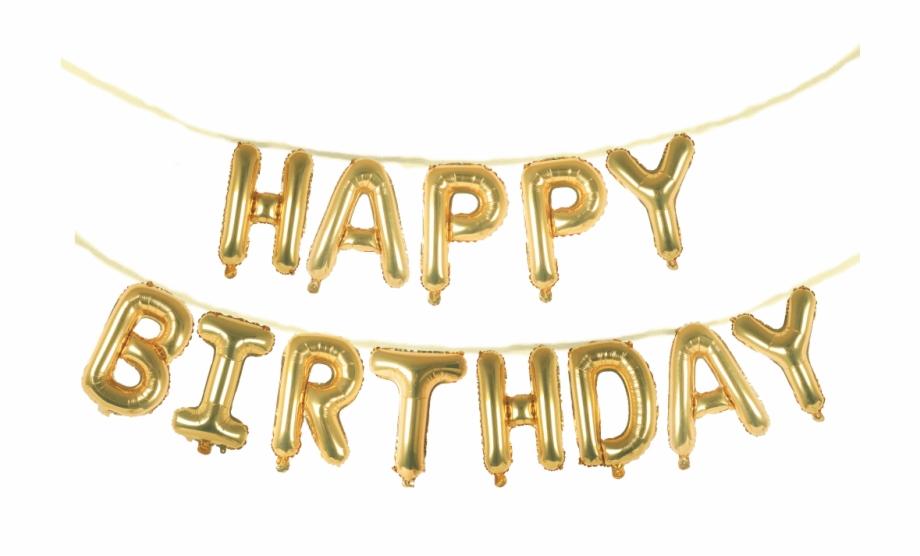 Happy Birthday 16 Balloon Phrase Banner Set Calligraphy