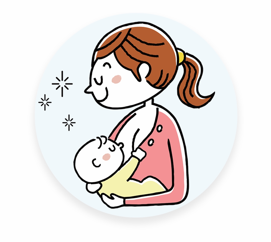 Mother Clipart Born Baby Mom And Baby Cartoon Transparent Png Download 319194 Vippng