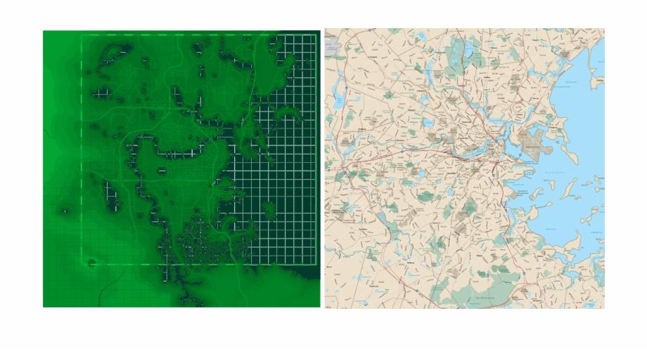 Bostonarea Map Fallout4 Fallout 4 Map Overlay Boston