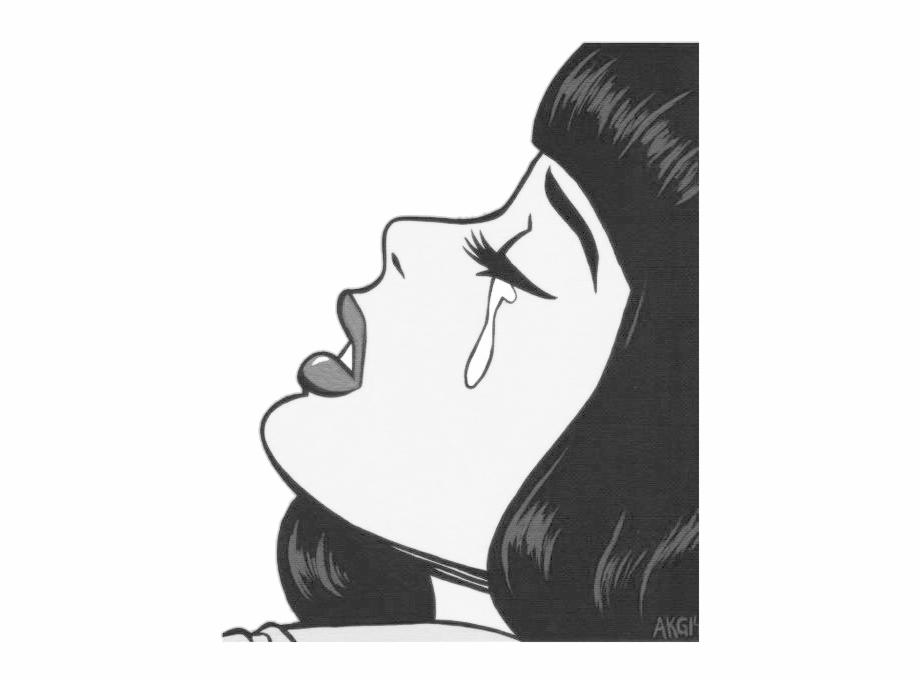 Sad Girl Sticker Png   Transparent PNG Download #3148032