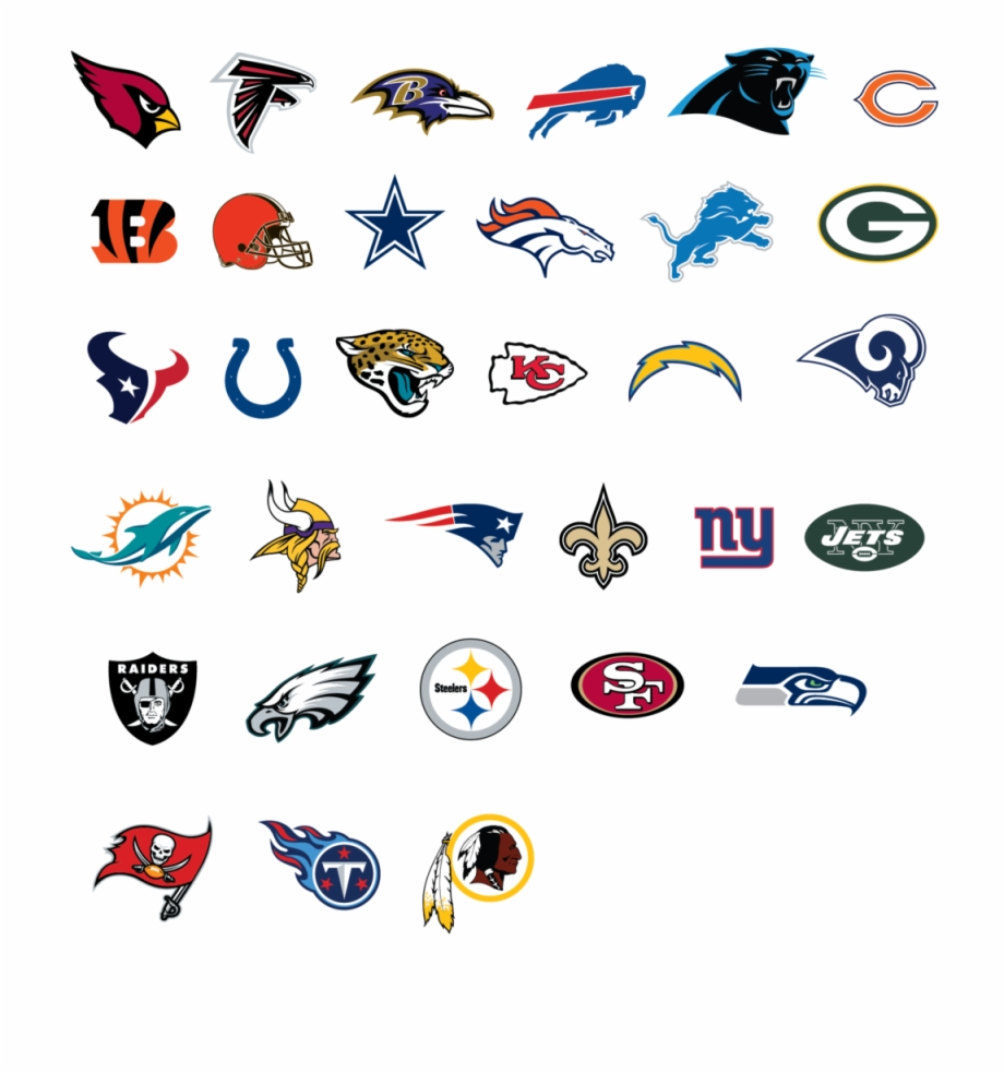 Official Pool Noodle Of Mlb Nhl Nba Nfl All Nfl Football Teams Logos And Names Transparent Png Download 3187309 Vippng