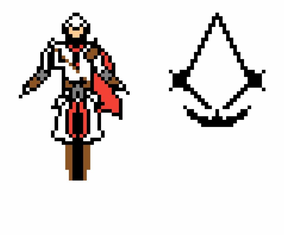 Ezio Auditore Da Firenze Ezio Pixel Art Transparent Png