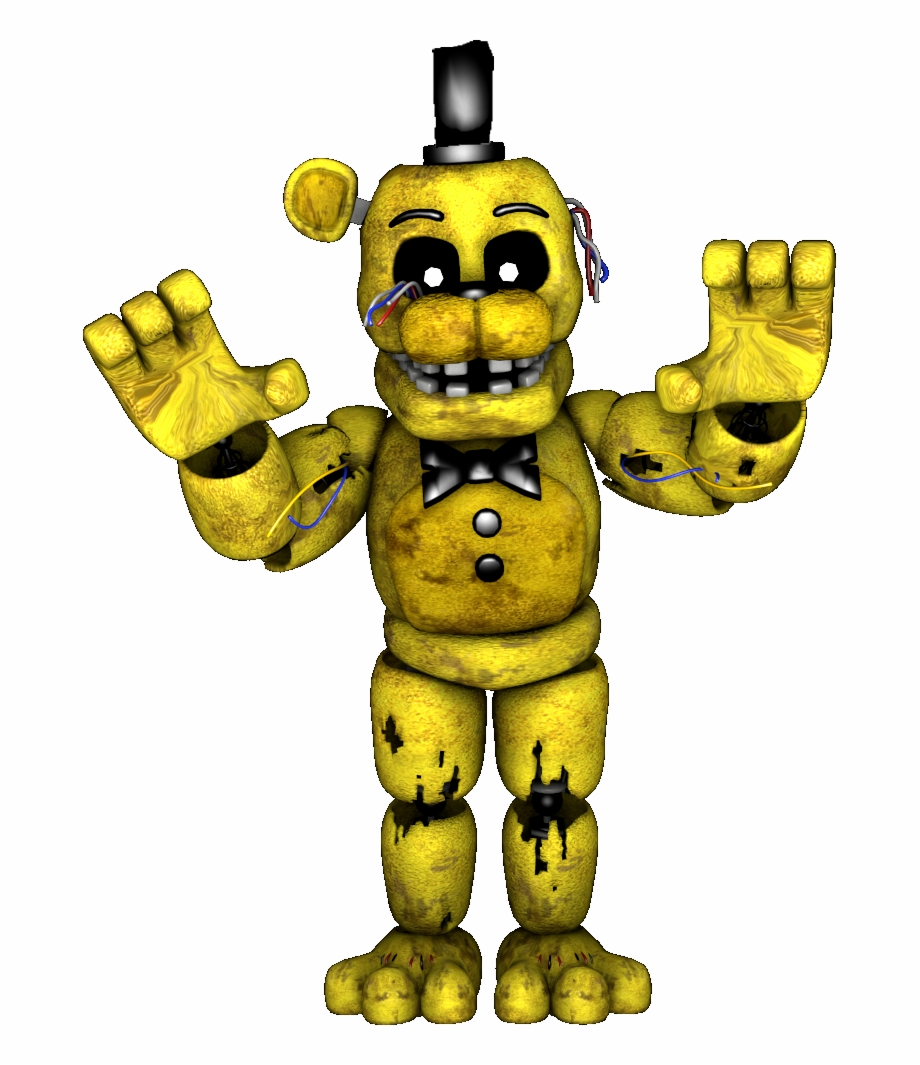 Five Nights At Freddys 2 Roblox Drawing The Withered Arm Golden Freddy Png Golden Freddy De Five Nights At Freddy S 2 Transparent Png Download 3218312 Vippng