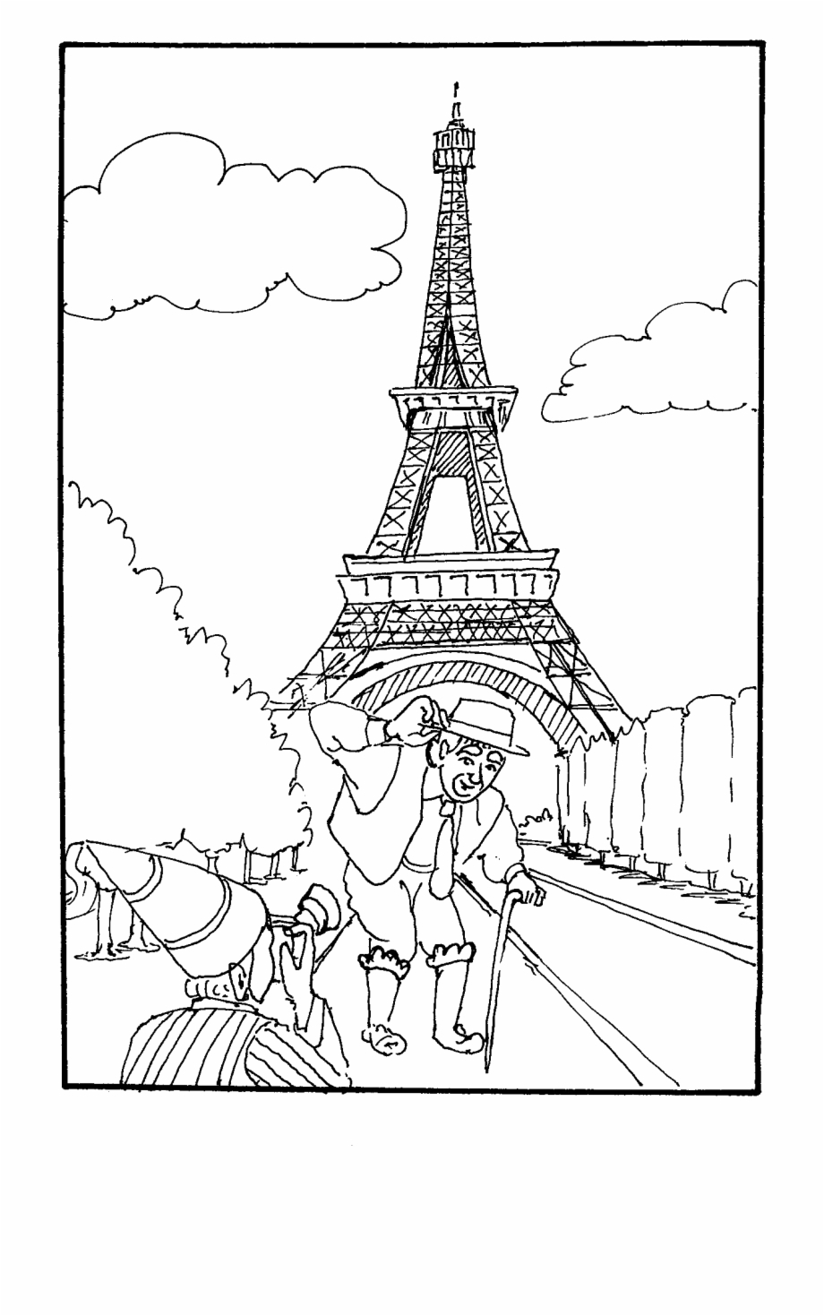 Eiffel Tower Coloring Pages | 360ColoringPages | 1469x920