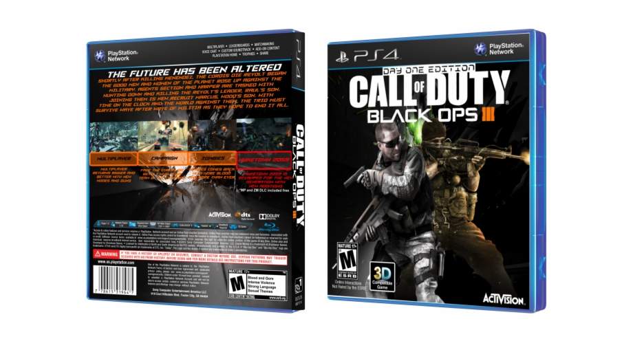 Black Ops 3 Ps4 Png Call Of Duty Black Ops 3 Box Transparent