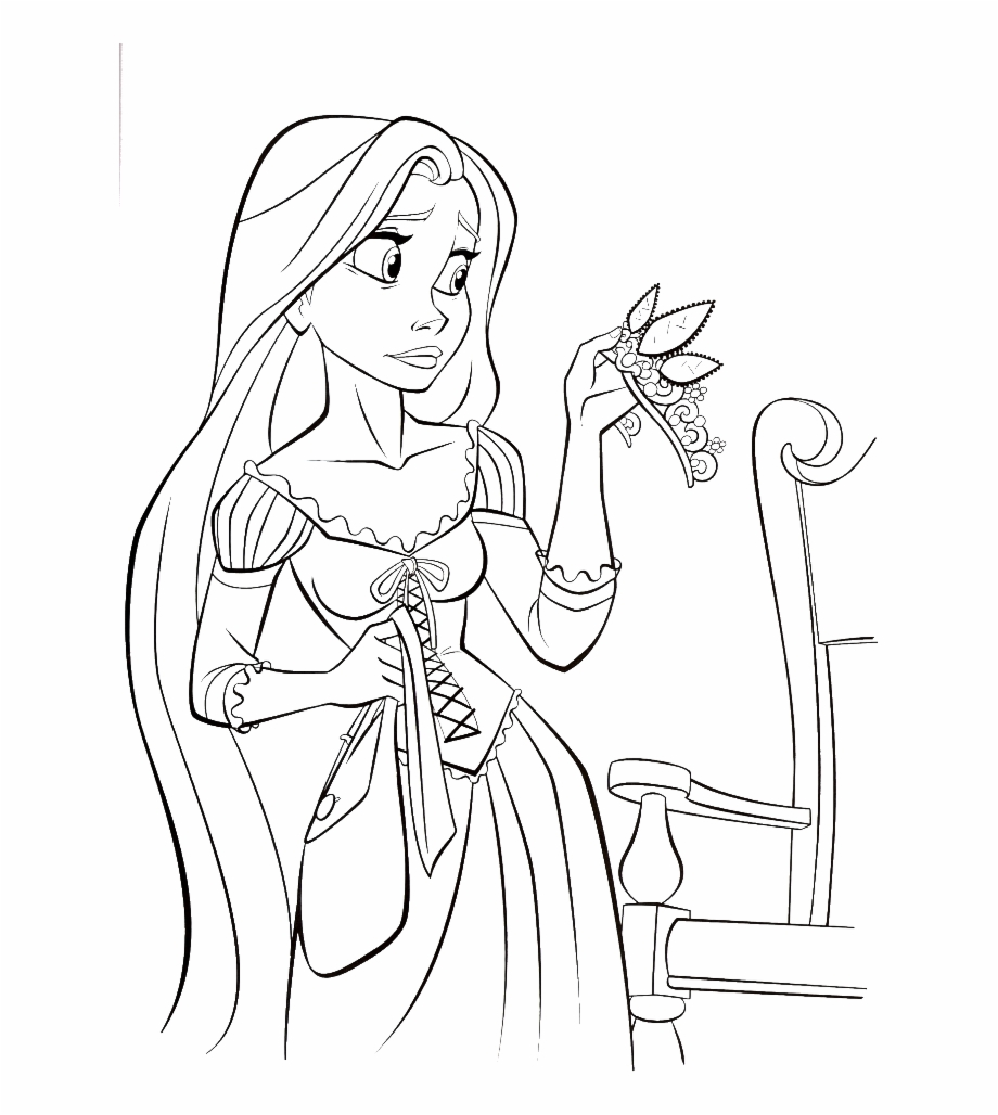 Color Rapunzel S Magical Golden Hair On Tangled Coloring Coloring Pages Golden Hair Transparent Png Download 3273936 Vippng