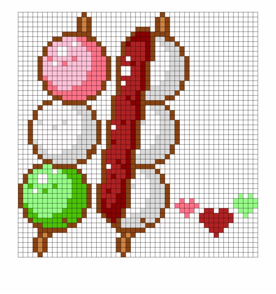 Hanami And An Dango Perler Bead Pattern Bead Sprite Sans