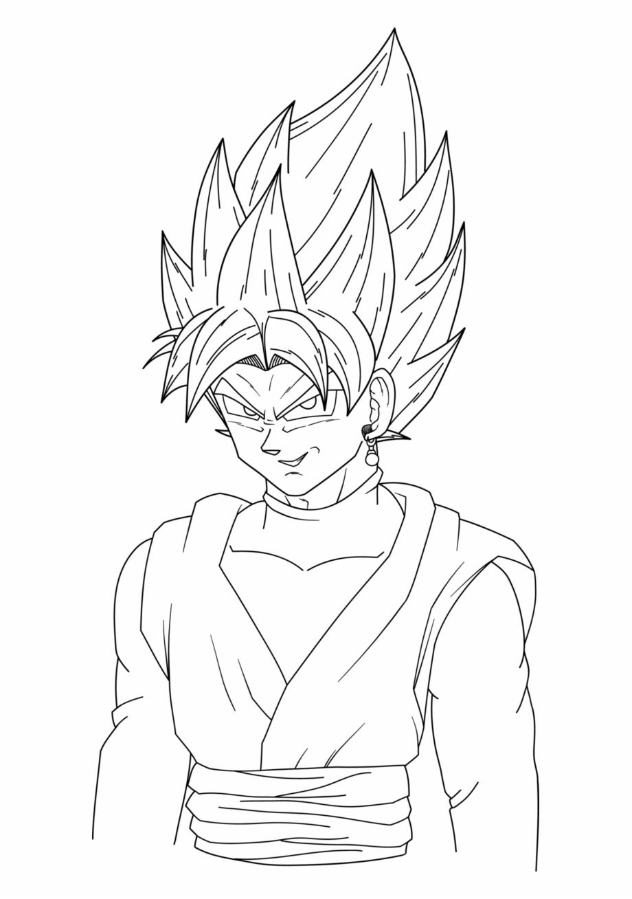 Goku Black Ssj Black Goku Rose Para Colorear Transparent Png