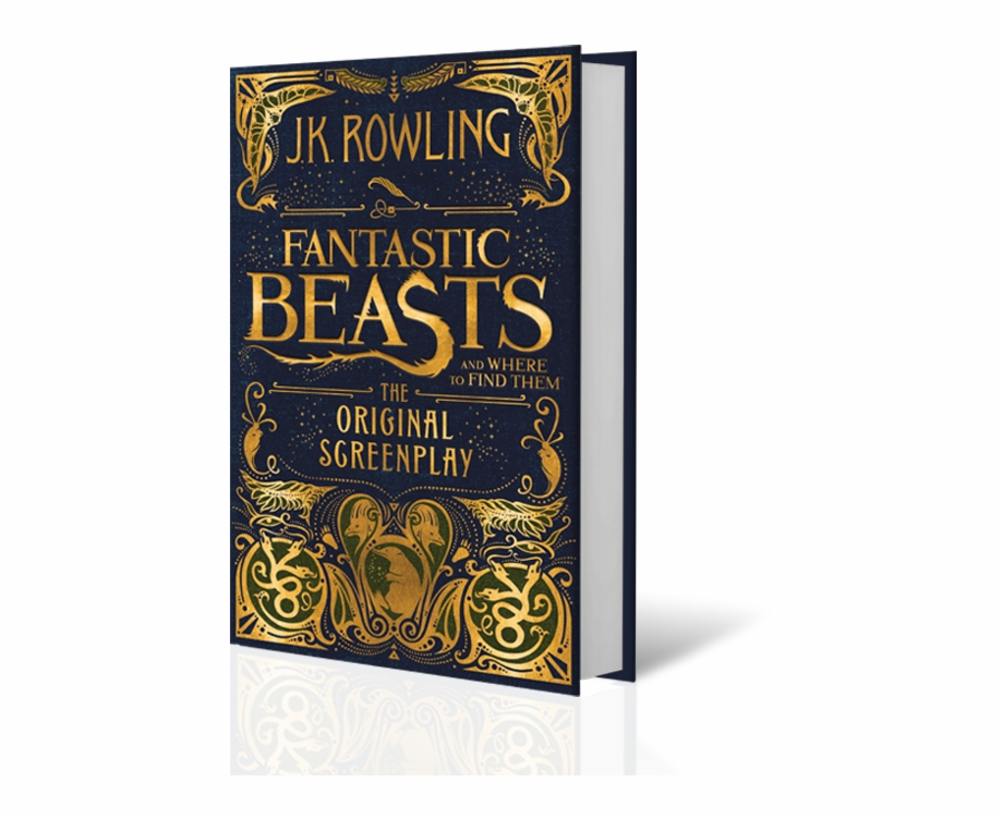Fantastic Beasts Book Cover Fantastic Beast And Where To Find Them Original Screenplay Transparent Png Download 3287829 Vippng