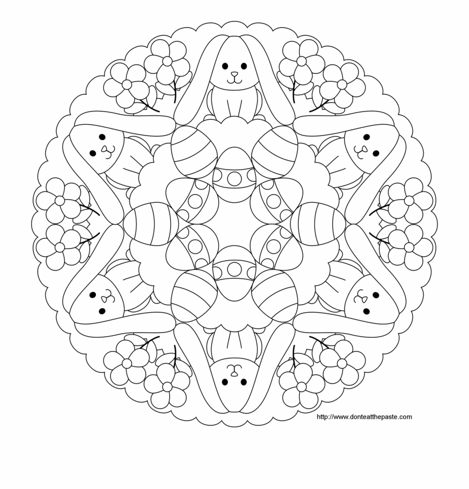 - Free Mandala Coloring Pages For Kids Easy To Color - Easter