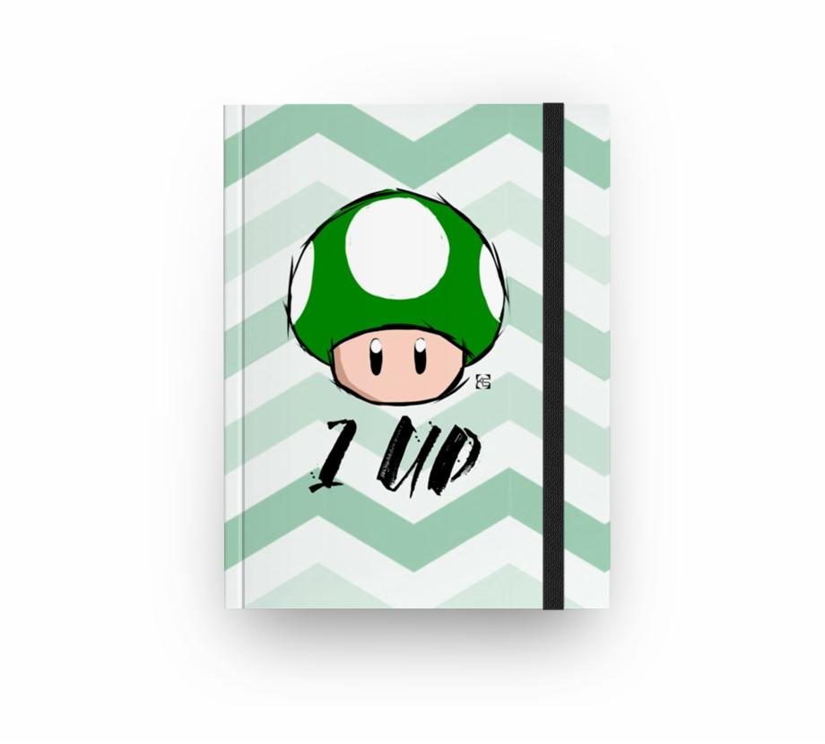 Caderno Cogumelo Mario 1 Up De Karetdesignerna
