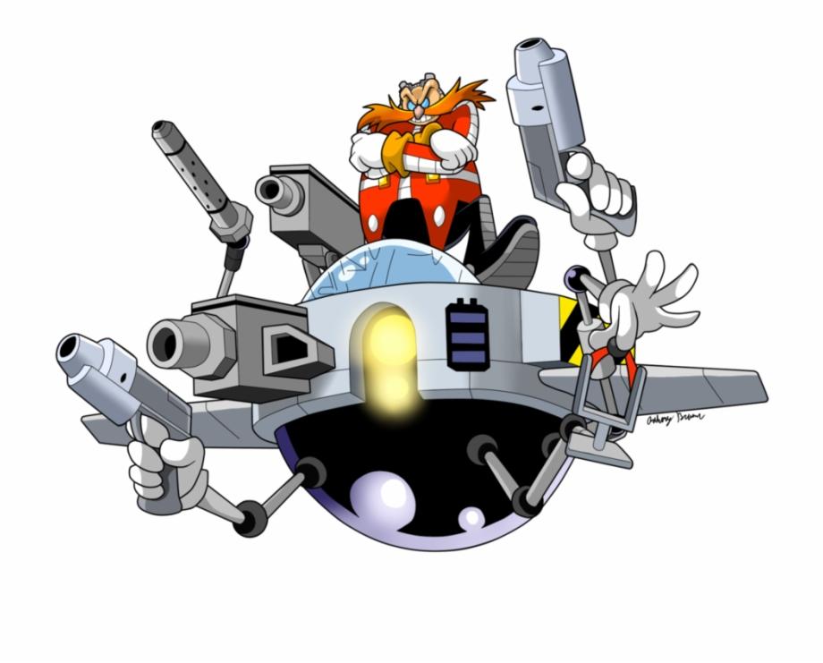 Dr Robotnik S Ship Egg Pod Eggman Transparent Png Download 3320676 Vippng