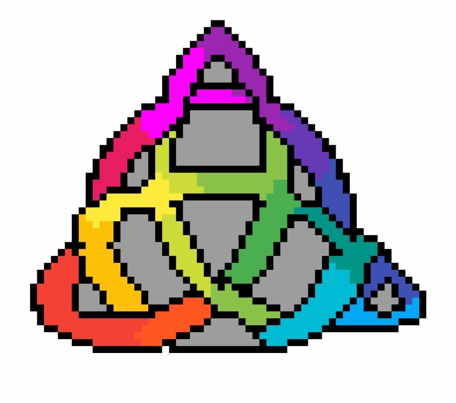 H Transparent Rainbow Orange Cat Pixel Art Transparent