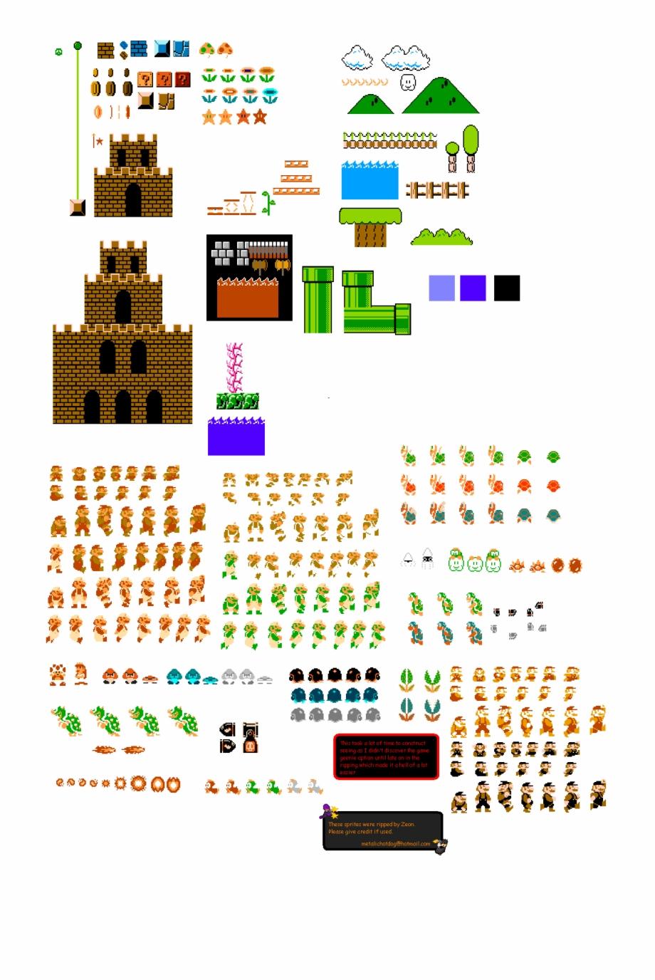 Mario Bros Mario Bros Png Mario Bros New Super Mario Bros Sprite Transparent Png Download 3439754 Vippng