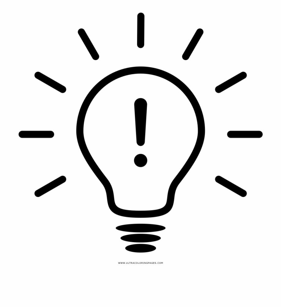 Lightbulb Idea Coloring Page Lampada De Ideia Desenho