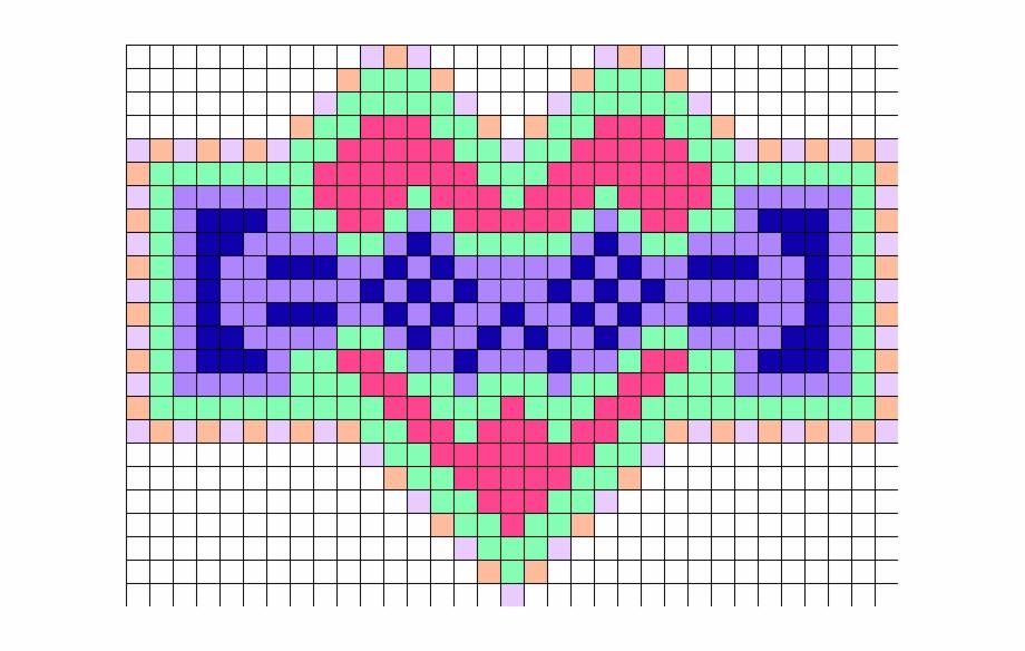 Porter Robinson Kaomoji Love Perler Bead Pattern Pixel