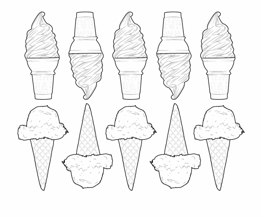 28 Collection Of Tumblr Png Coloring Pages - Ice Cream Cone Transparent  PNG Download #350888 - Vippng
