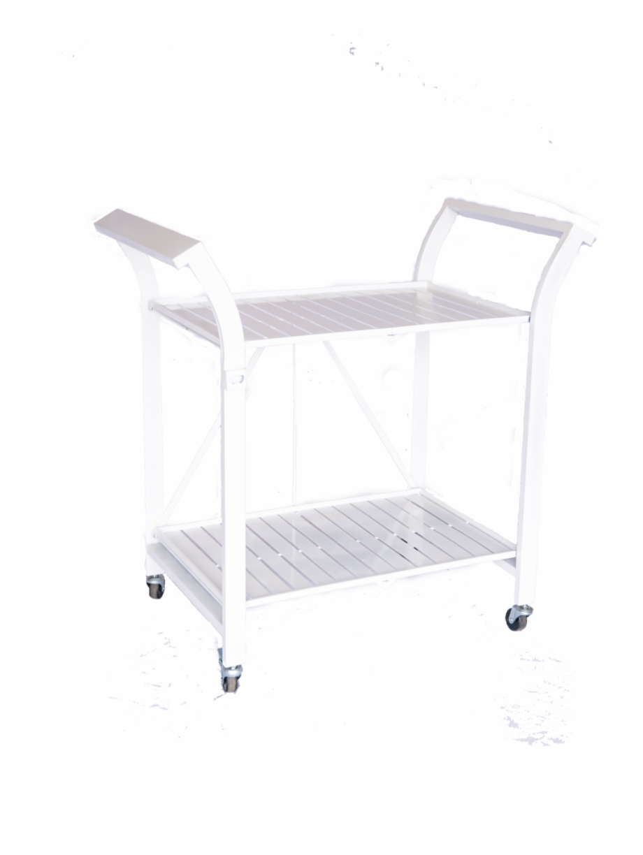 White Metal Bar Cart Transparent Png Download 3516663 Vippng
