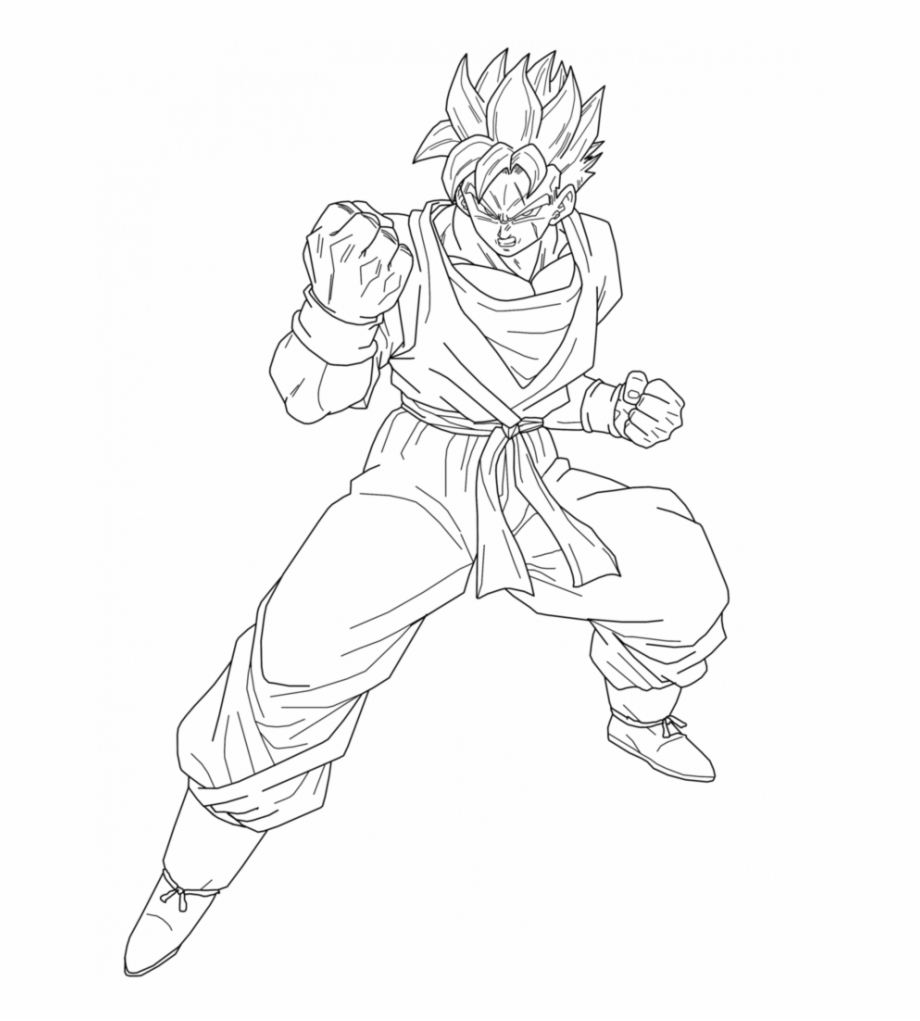 Dragon Ball Coloring Pages Future Trunks And Gohan Future Gohan