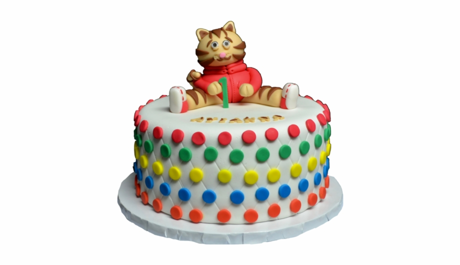 Prime Daniel The Tiger Cake For A 1St Birthday Party Vanilla Birthday Funny Birthday Cards Online Elaedamsfinfo