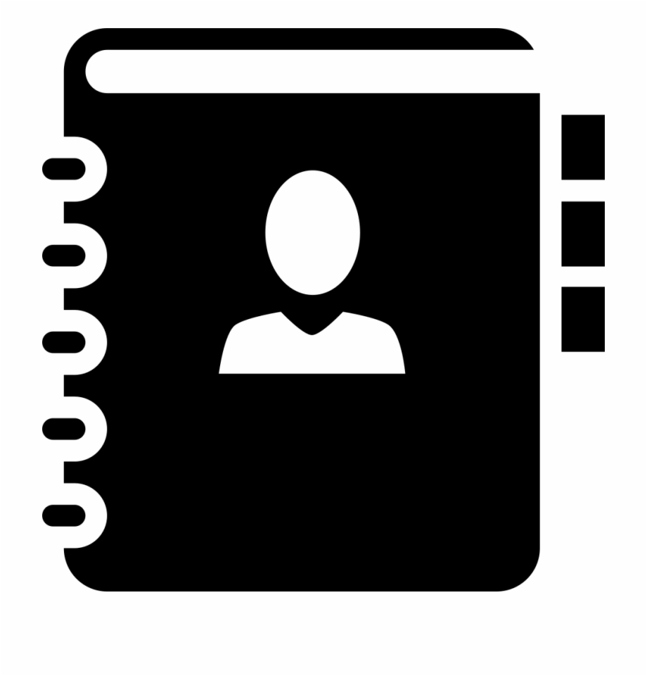 Address Book Phone Book Contacts Comments Address Book Icon Svg Transparent Png Download 3555126 Vippng