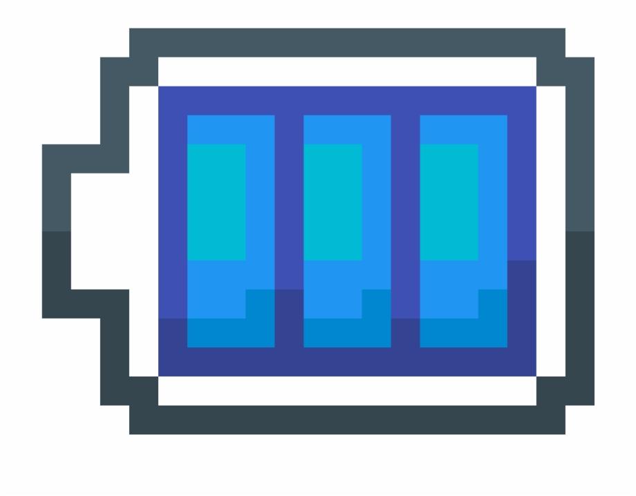 Better Battery Icon Pixel Art Mario Block Transparent
