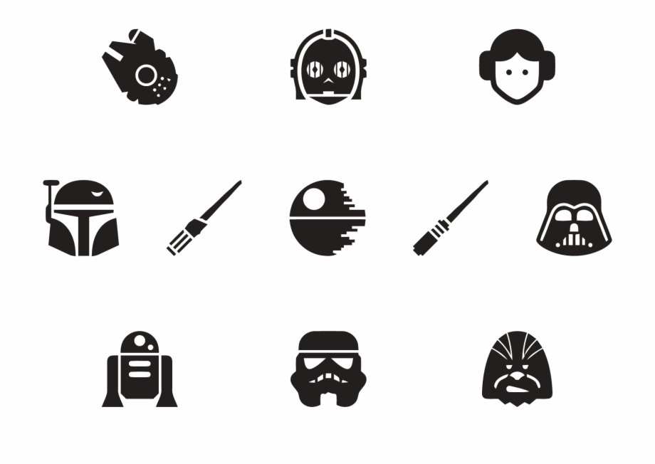 Event Graphics Star Wars Head Silhouette Transparent Png Download 3575512 Vippng