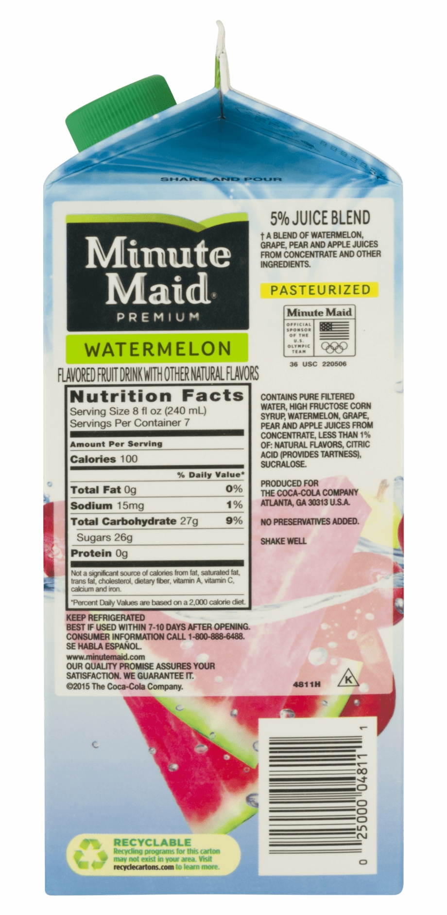 Premium Fruit Drink Watermelon 59 Fl Oz