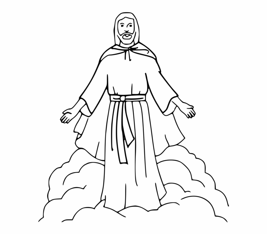 Color Clipart Coloring Book - Jesus Clipart Black And White Transparent  PNG Download #3647512 - Vippng