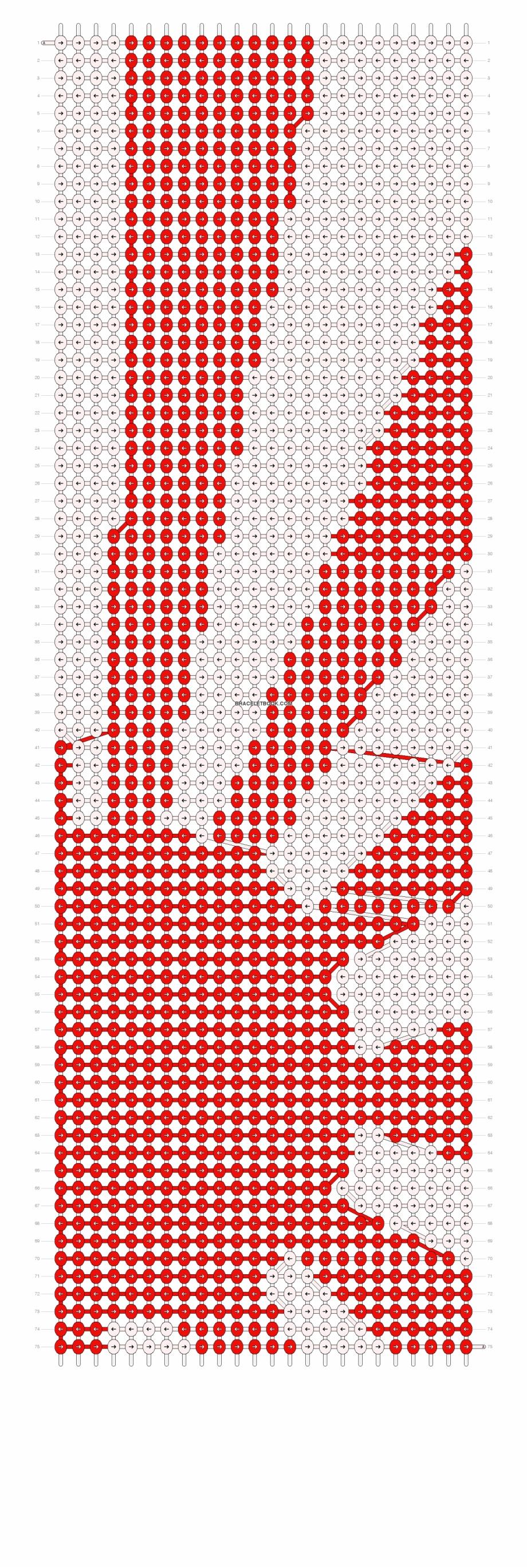 Friendship Bracelet Pattern Arrowhead