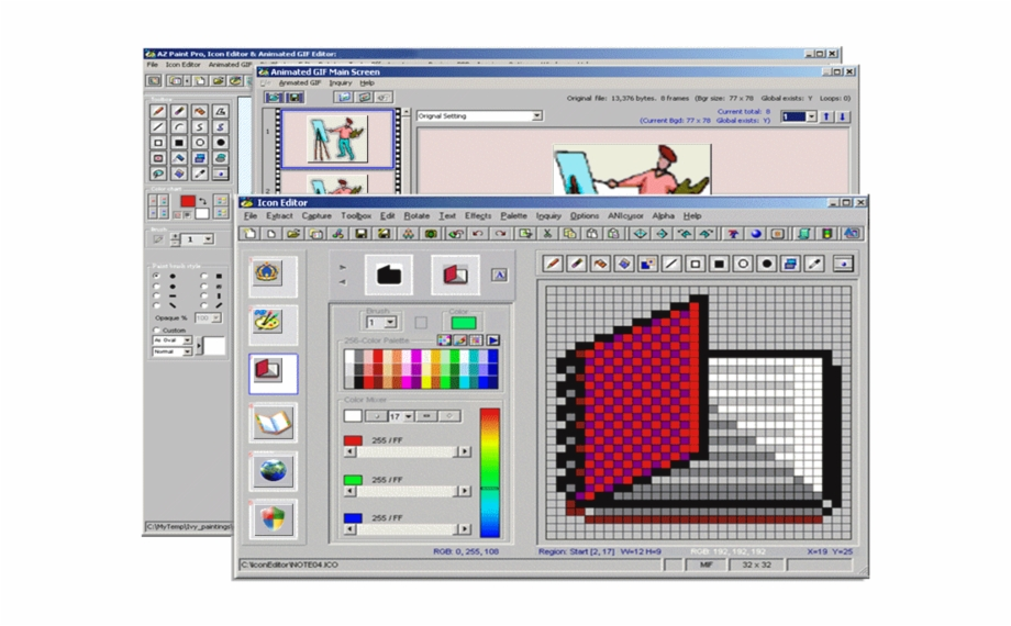 Az Paint Pro Icon Editor Animated Gif Editor Edit Icon Transparent Png Download 3690732 Vippng