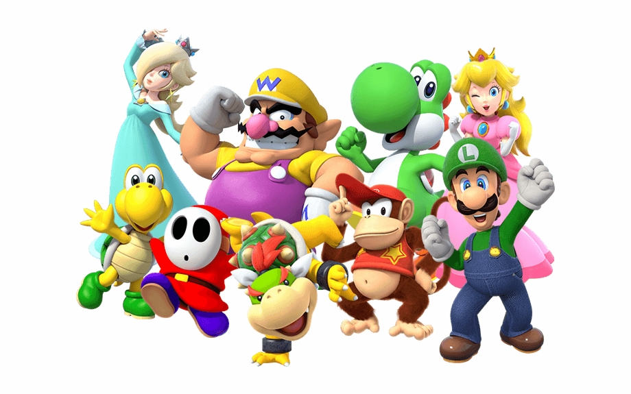 transparent super mario characters png