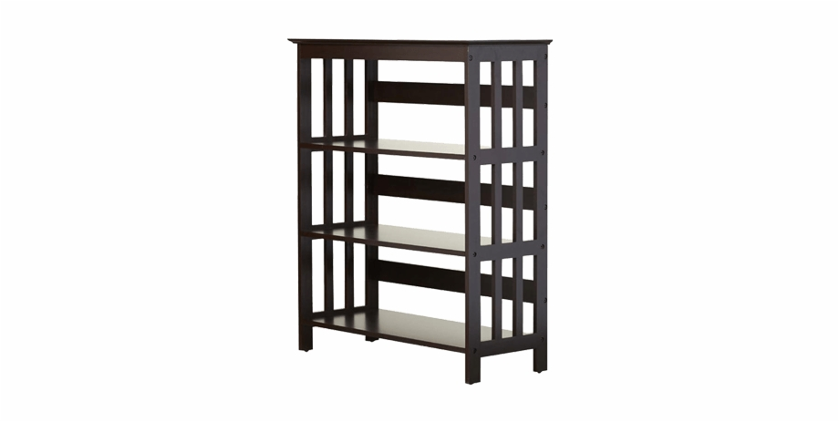 Kids Room Bookshelf With Slatted Sides And Open Bookcase Transparent Png Download 3734887 Vippng