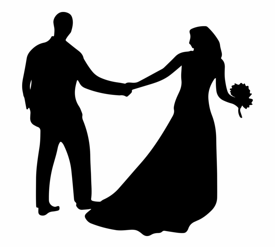 Love Marriage Wedding Husband Bridegroom Married Couple Silhouette Png Transparent Png Download 380156 Vippng