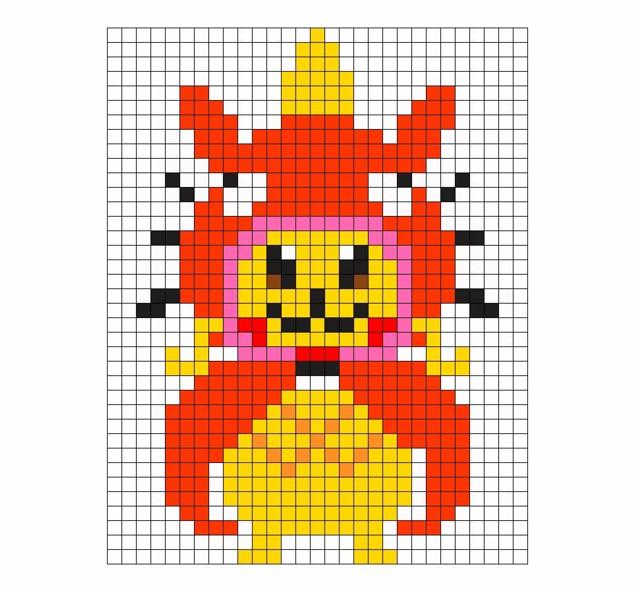 Small Magicarp Pikachu Perler Perler Bead Pattern Pixel