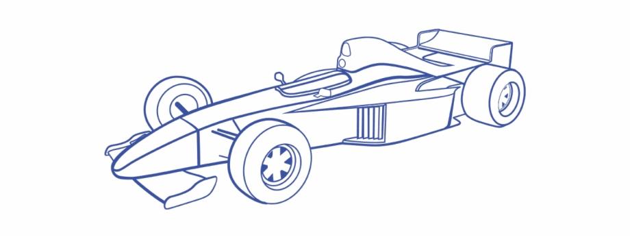 Drawn Race Car Formula One Draw Formula 1 Car Transparent Png Download 3814006 Vippng