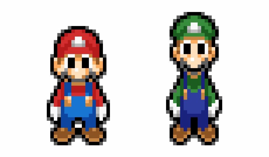 Mario Pixel Mario E Luigi Transparent Png Download 3815026 Vippng