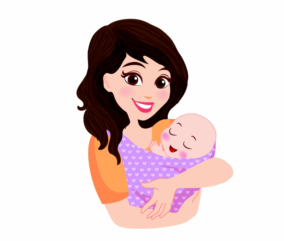 Cartoon Mom And Baby Transparent Png Download 3872047 Vippng