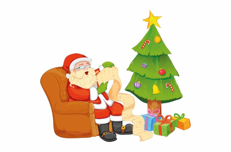 Sapin Papa Noel Transparent Png Download 3882409 Vippng