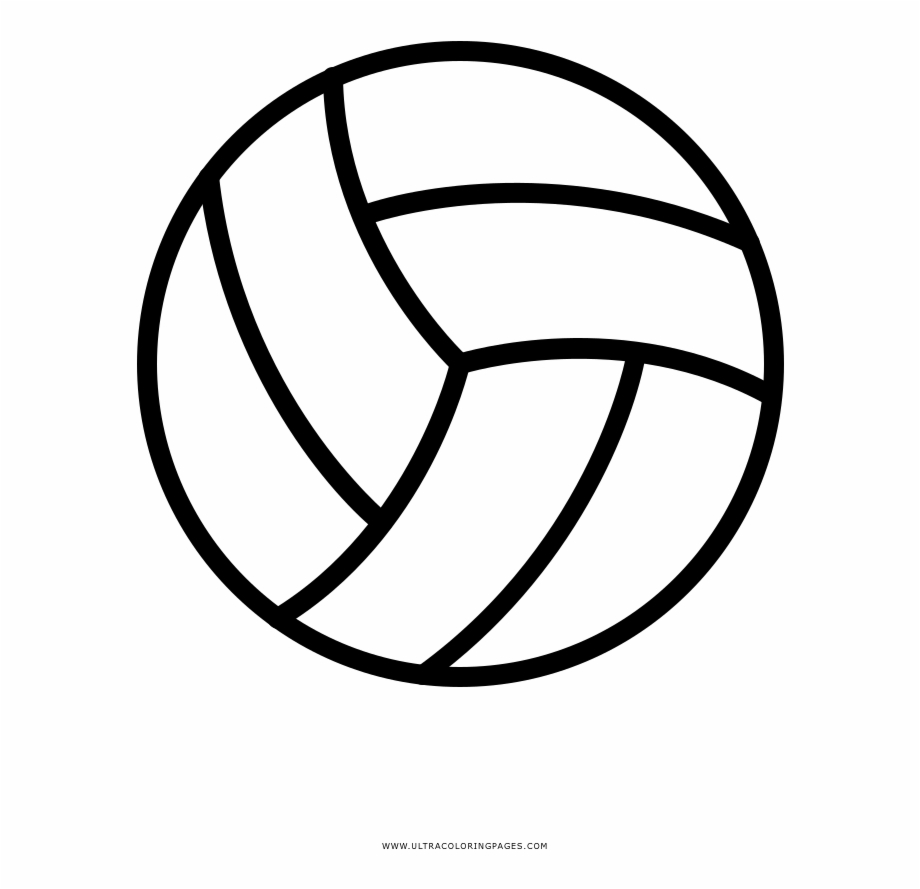 Volleyball Coloring Page   Volleyball With A Heart   Transparent ...