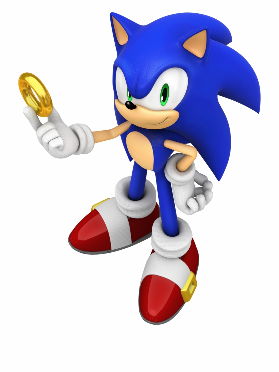 Sonic Novo Sonic 19 Png Sonic The Hedgehog Ring Transparent Png Download 3948334 Vippng