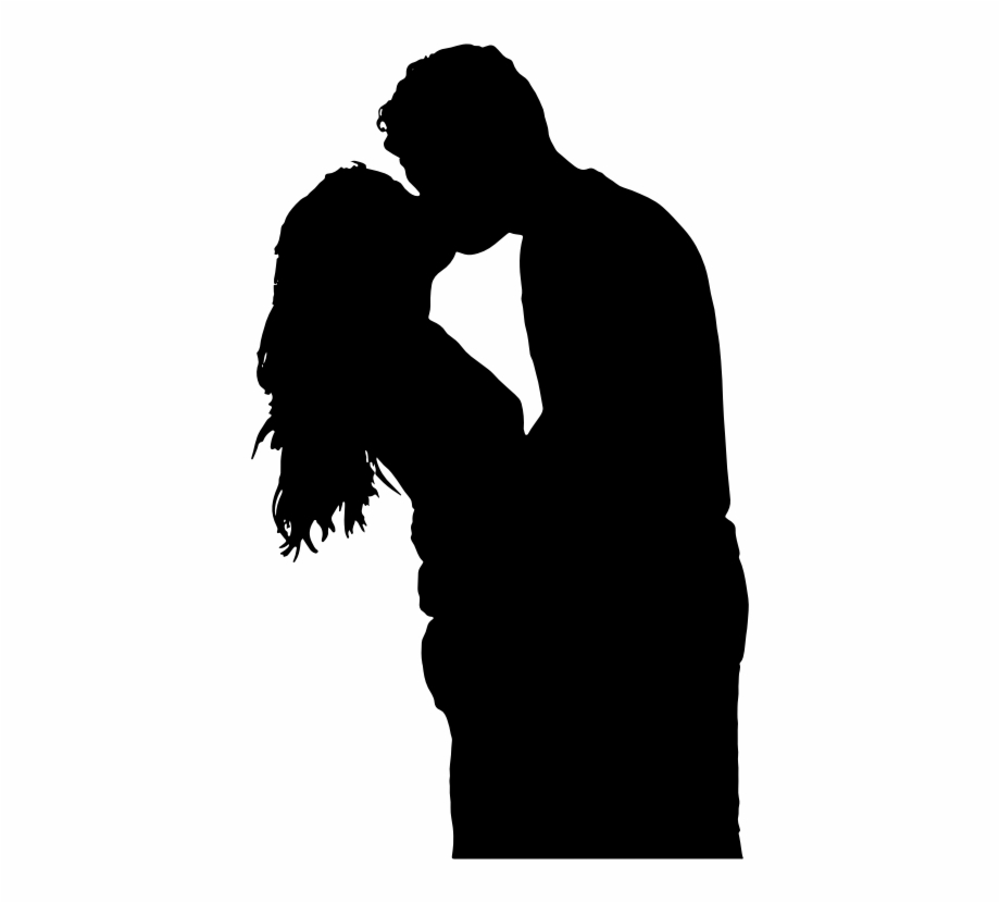 silhouette man and woman silhouette of a couple kissing transparent png download 41254 vippng silhouette man and woman silhouette