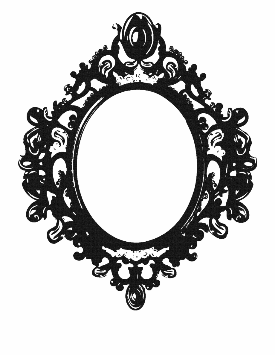 Vintage Clipart Mirror Frame Pencil And In Color Vintage Dark Mirror Png Transparent Png Download 41913 Vippng