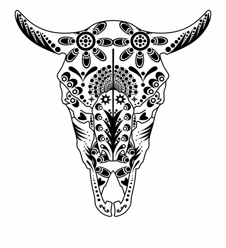Png Cow Drawing At Getdrawings Com Free For Sugar Skull Animal Coloring Pages Transparent Png Download 44147 Vippng
