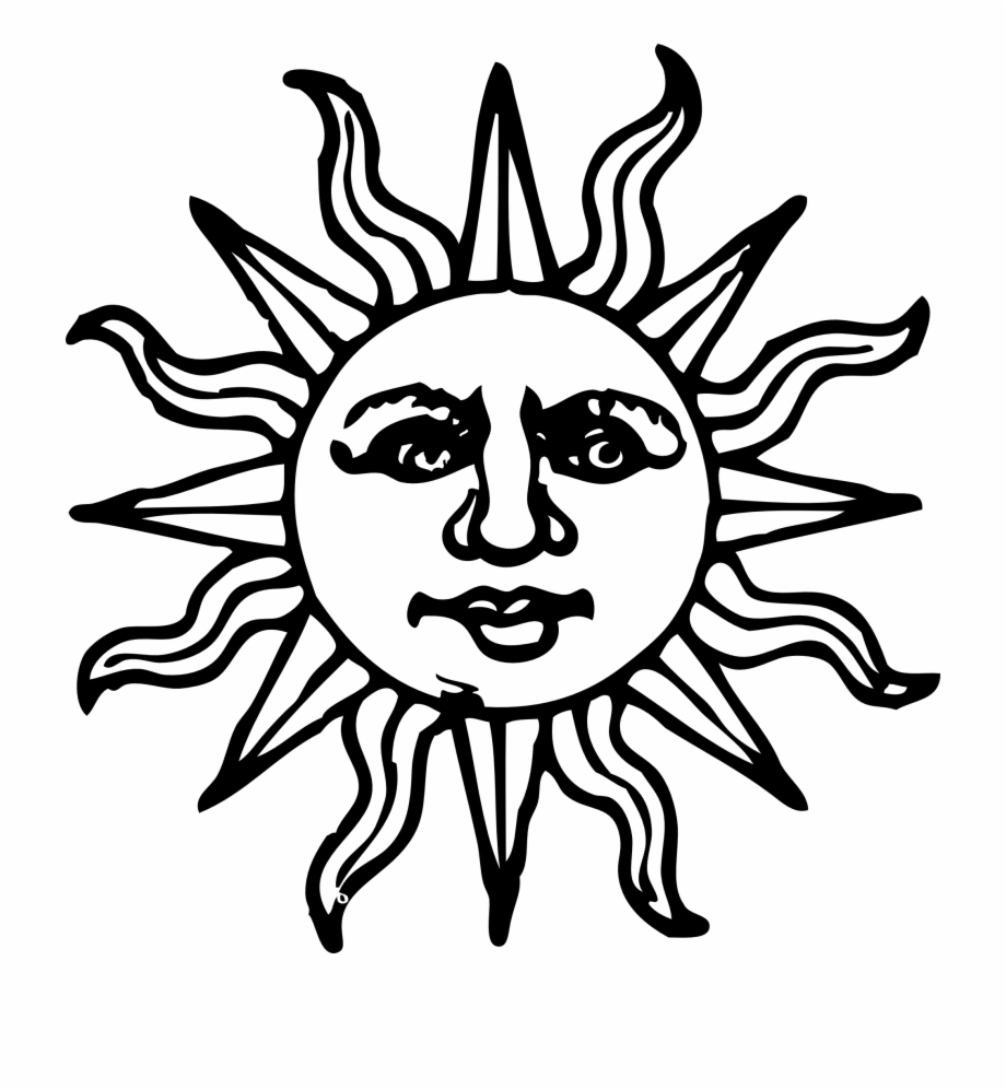 Happy Sun Png Black And White Drawing Sketch Of Sun