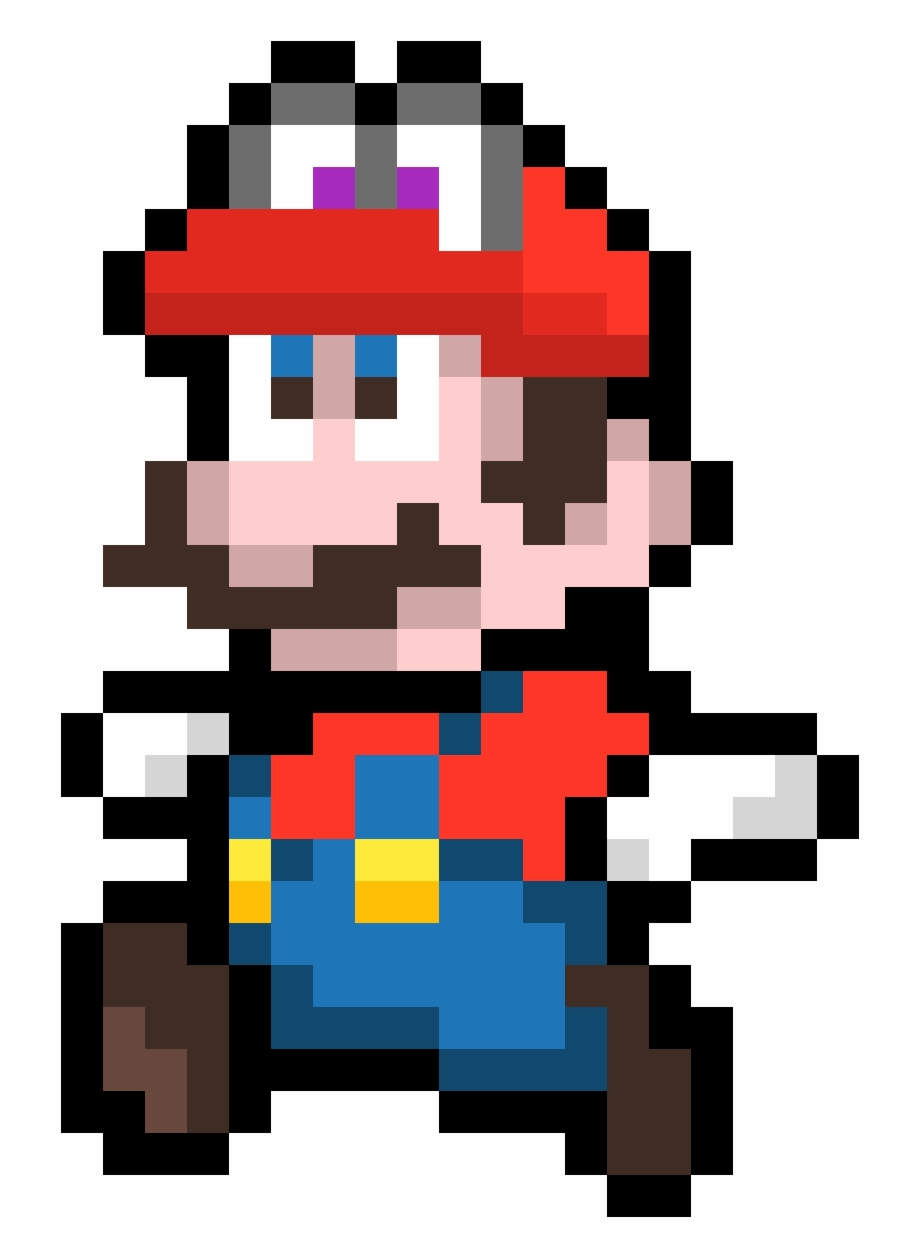 Mario And Cappy - Pixel Super Mario Bros | Transparent PNG Download