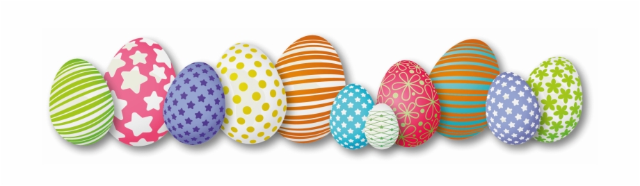 Easter-eggs - Easter Eggs In A Row | Transparent PNG Download ...