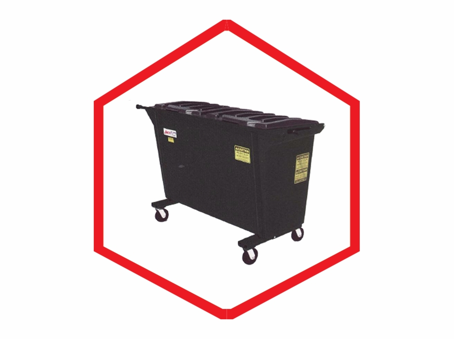 1 Yard Dumpster Shopping Cart Transparent Png Download 4003345 Vippng