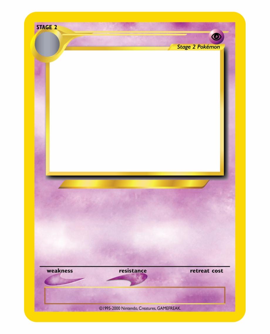 Blank Pokemon Trading Card Templates 220184 Pokemon Card