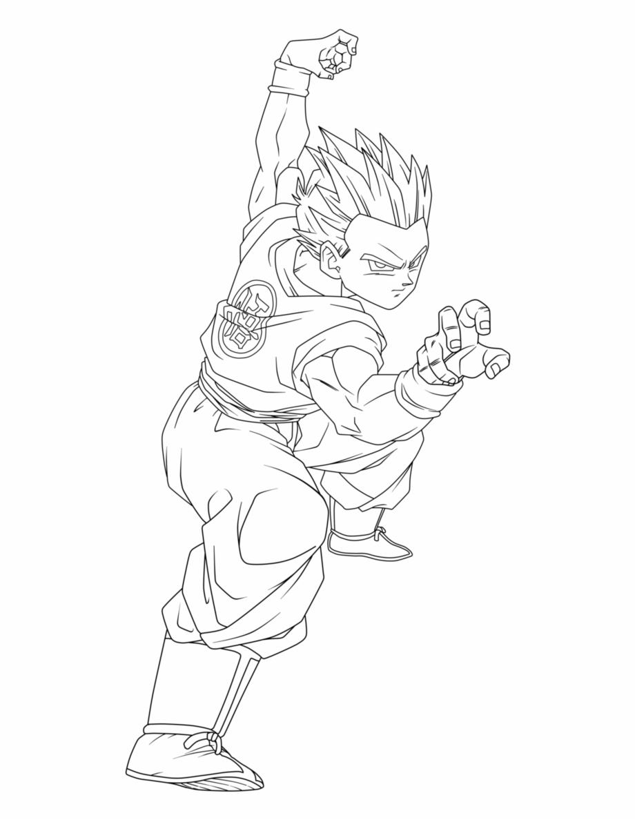Broly from Dragon Ball Z coloring page | Free Printable Coloring Pages | 1188x920